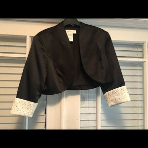 David's Bridal formal bolero satin jacket